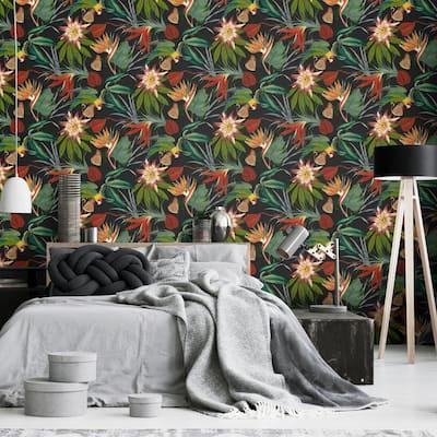 Parrot Black Wallpaper Sample