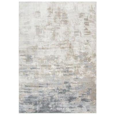 Encore Beige/Gray 8 ft. x 10 ft. Rectangle Area Rug