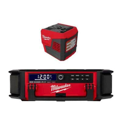M18 Lithium-Ion Cordless PACKOUT Radio/Speaker with Built-In Charger with M18 175-Watt Powered Compact Inverter