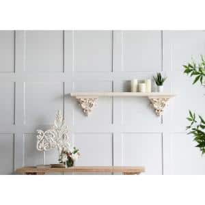 Weather White Kawan Palm Dceor Accent with Base
