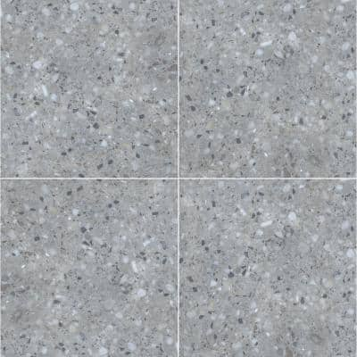 Terrazo Gris 24 in. x 24 in. Matte Porcelain Paver Tile (14 pieces / 56 sq. ft. / pallet)