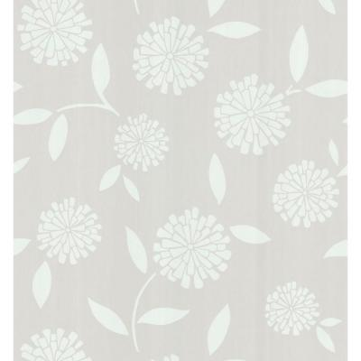 Zinnia Beige Flower Paper Strippable Roll Wallpaper (Covers 56.4 sq. ft.)