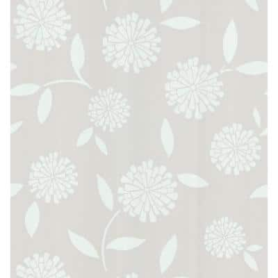 Simple Space Zinnia Flower Washable Wallpaper Sample