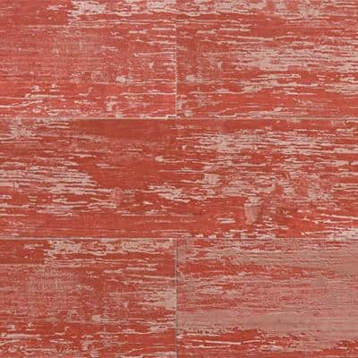 Element Wood 1/4 in. x 6 in. x 48 in. Red Shiplap Resin Wall Panels (18-Pack)
