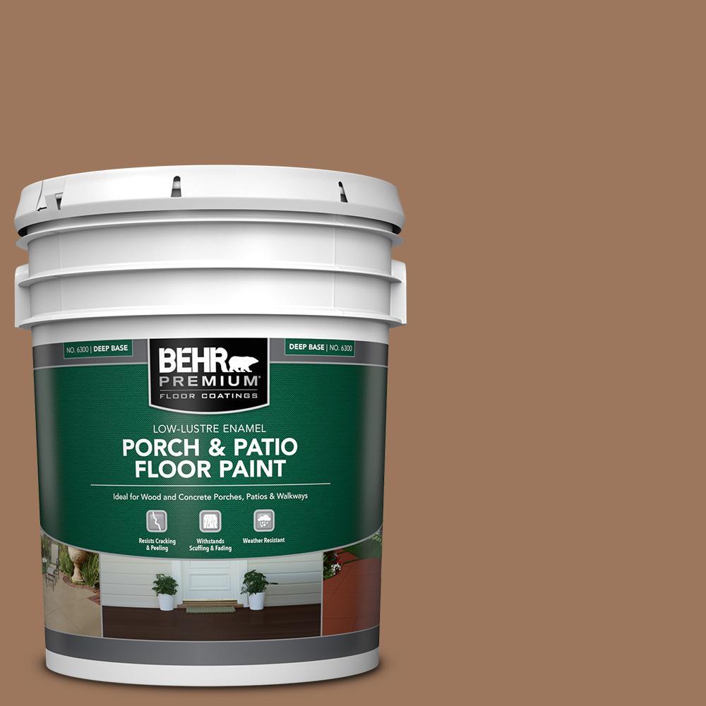 5 gal. #SC-152 Red Cedar Low-Lustre Enamel Interior/Exterior Porch and Patio Floor Paint
