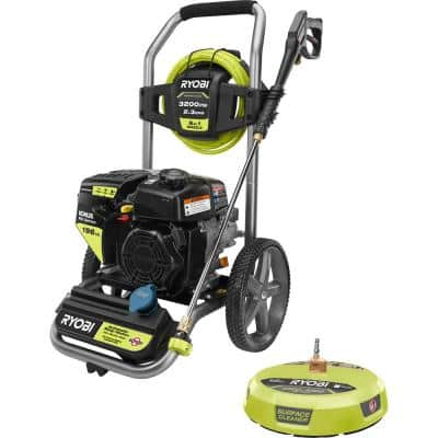 3,200 PSI 2.3 GPM Cold Water 196 cc Kohler Gas Pressure Washer and 15 in. Surface Cleaner