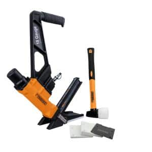 2nd Generation Pneumatic 18-Gauge 1-3/4 in. L-Cleat Flooring Nailer with Fiberglass Mallet