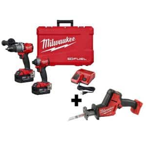 M18 FUEL 18-Volt Lithium-Ion Brushless Cordless Hammer Drill and Impact Driver Combo Kit (2-Tool) W/ HACKZALL