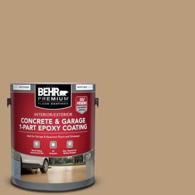 1 Gal. #PFC-28 Desert Sandstone Self-Priming 1-Part Epoxy Satin Interior/Exterior Concrete and Garage Floor Paint