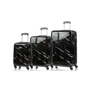 CHAMPS Carrera 28 in.,24 in., 20 in. Black Hardside Luggage Set with Spinner Wheels (3-Piece)