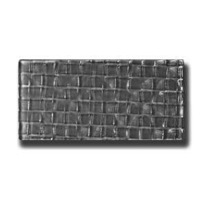 Metro Cubes  Dark Gray Subway 3 in. x 6 in. Glossy Textured Glass Wall Tile (1 Sq. ft./Sq. Ft.)