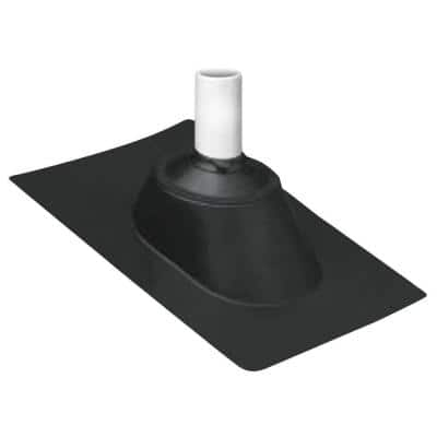 3 in. and 4 in. Adjustable Pipe Flashing with Hard Plastic Base and Rubber Collar