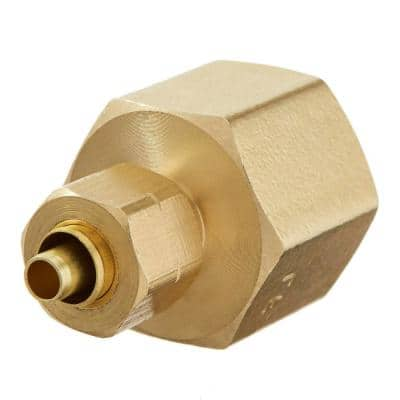 1/4 in. OD Compression x 1/2 in. FIP Brass Adapter Fitting