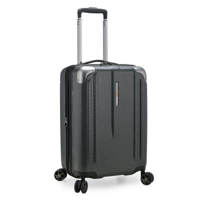 New London II 22 in. Gray Hardside Expandable Spinner Luggage