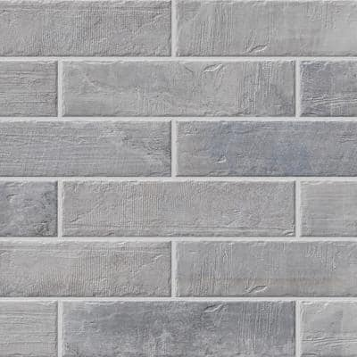 Brickbold 13 in. x 3 in. Grey Glazed Porcelain Floor and Wall Tile (13.35 sq. ft. / case)