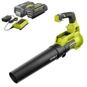 40V 110 MPH 525 CFM Cordless Battery Variable-Speed Jet Fan Leaf Blower with (2) 4.0 Ah Batteries and (1) Chargers