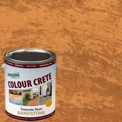 1 Gal. Sandstone Semi-Transparent Water-Based Exterior Concrete Stain
