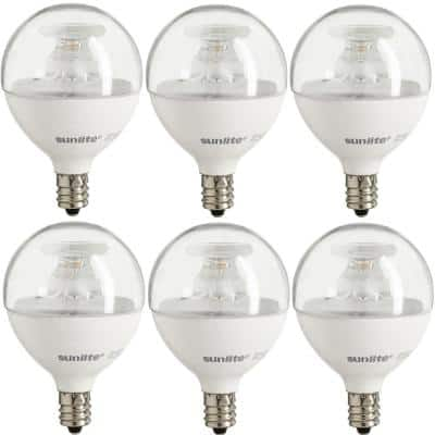 60-Watt Equivalent Clear Warm White G16.5 Dimmable LED Light Bulb (6-Pack)