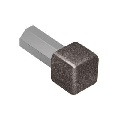 Quadec Light Anthracite Textured Color-Coated Aluminum 1/2 in. x 1 in. Metal Inside/Outside Corner