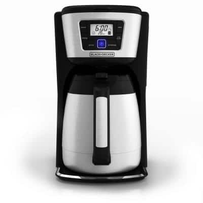 12-Cup Programmable Stainless Steel Drip Coffee Maker with Thermal Carafe