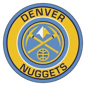 NBA Denver Nuggets Gold 2 ft. x 2 ft. Round Area Rug