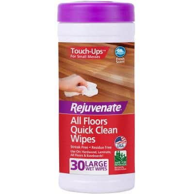 30-Count All Floors Quick Clean Wipes