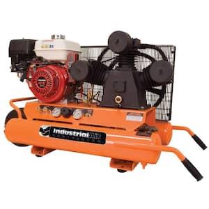 9 Gal. Portable Wheelbarrow Air Compressor with 9 HP Electric Start Honda Gas Engine
