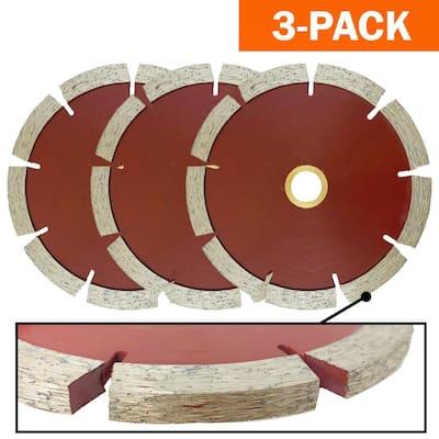 5 in. Professional Tuck Point 1/4 in. Diamond Blade, Cuts Granite, Marble, Concrete, Stone, Brick, Masonry (3-Pack)