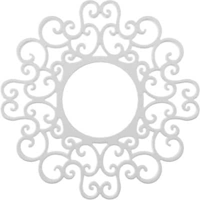 1 in. x 40 in. x 40 in. Reims Architectural Grade PVC Pierced Ceiling Medallion