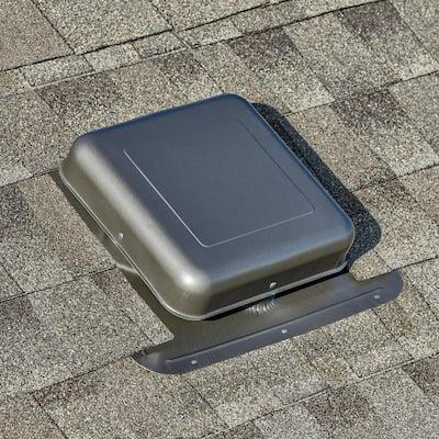 50 sq. in. NFA Aluminum Square-Top Roof Static Vent in Weatherwood