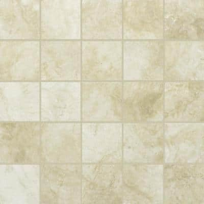 Oasis Beige 12 in. x 12 in. x 9mm Matte Porcelain Mesh-Mounted Mosaic Tile (5 sq. ft./Case)
