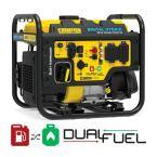 DH 4000-Watt Recoil Start Gas and Propane Dual Fuel Powered Open frame Inverter Generator with 224 cc Engine