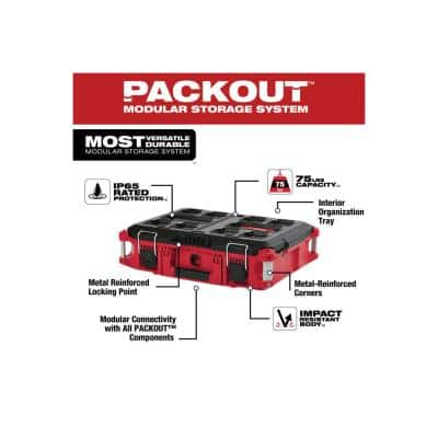 PACKOUT 22 in. Medium Red Tool Box with 75 lb. Weight Capacity
