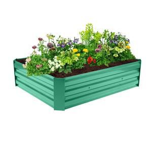 4 ft. D x 3 ft. W x 1 ft. Galvanized Metal Raised Garden Bed