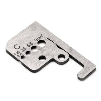 1.25 mm square to 8 mm square Wire Stripper Blades