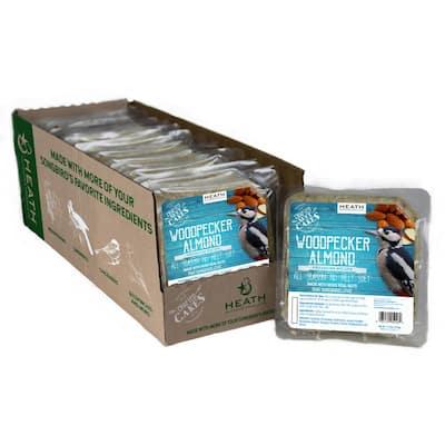 11.75 oz. Woodpecker Almond Premium Crafted Suet Cake (12-Pack)