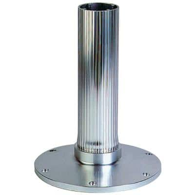 30 in. EEz - in Fixed Overall Height 2.875 in. Seat Base, Ribbed Stanchion, Satin Anodized