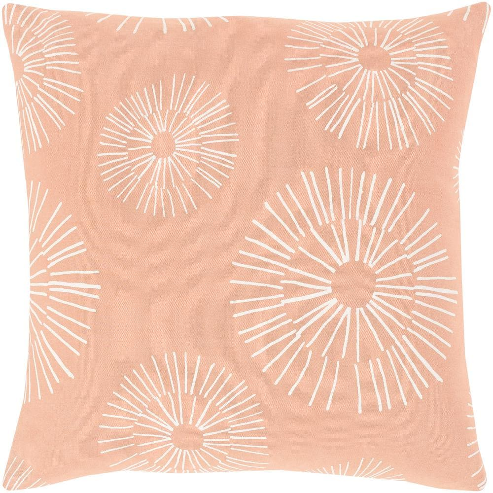 Artistic Weavers Madelon 18 In X 18 In Peach Graphic Polyester Standard Throw Pillow S00161017285 The Home Depot
