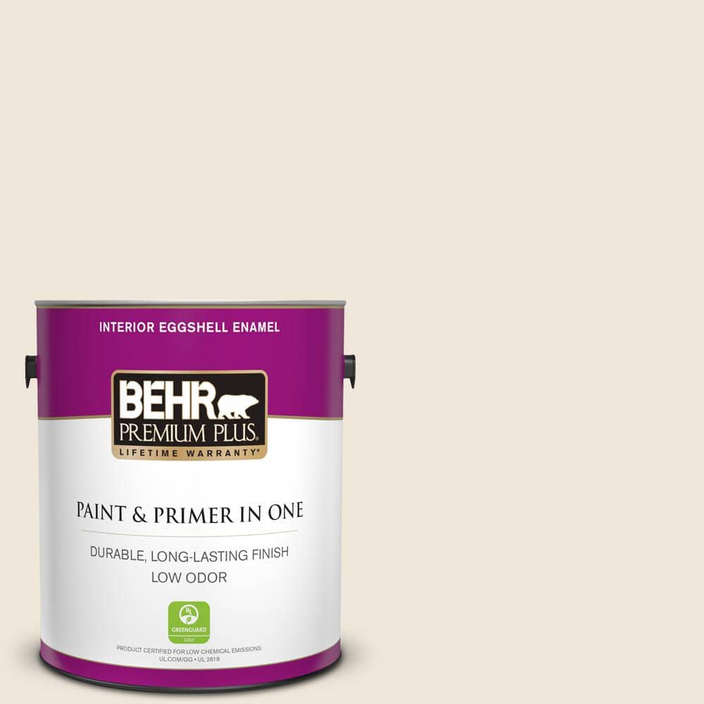 Behr Premium Plus 1 Gal Or W12 Mourning Dove Eggshell Enamel Low Odor Interior Paint And Primer In One 205001 The Home Depot
