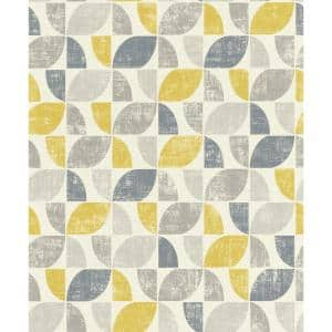 Dorwin Yellow Geometric Yellow Wallpaper Sample
