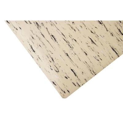 Marbleized Tile Top Anti-fatigue Mat Tan DS 2 ft. x 10 ft. x 7/8in. Commercial Mat