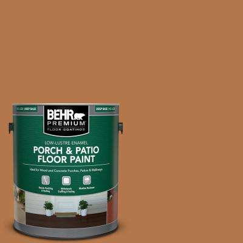 1 gal. #SC-533 Cedar Naturaltone Low-Lustre Enamel Interior/Exterior Porch and Patio Floor Paint