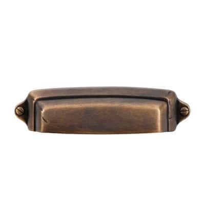 Grayson 2-1/2 in. Center-to-Center Vintage Brass Cup Pull