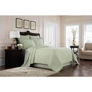 Williamsburg Richmond Green Solid Twin Bed Skirt