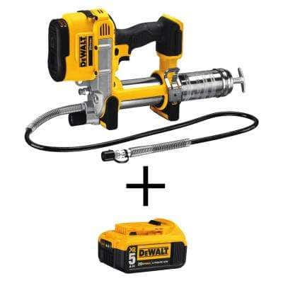20-Volt MAX Cordless 10,000 PSI Variable Speed Grease Gun with (1) 20-Volt 5.0Ah Battery