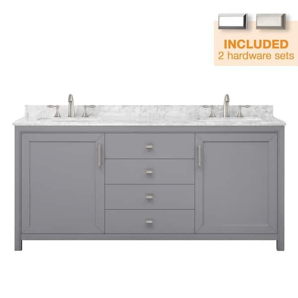 D Bath Vanity In Pebble Grey, Pebble Grey Bathroom Cabinets