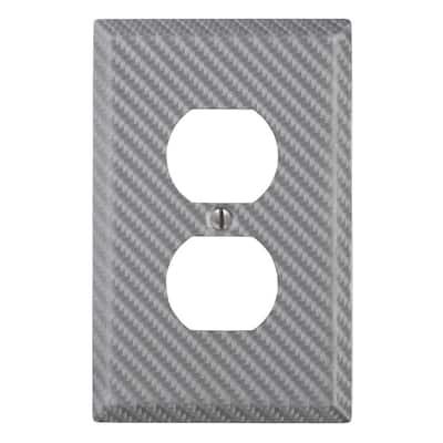 Branston 1 Gang Duplex Steel Wall Plate - Silver