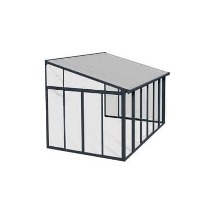 SanRemo 14 ft. x 10 ft. Gray/Clear Patio Enclosure