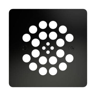 Redi Drain 4.25 in. x 4.25 in. Square Drain Plate in Matte Black