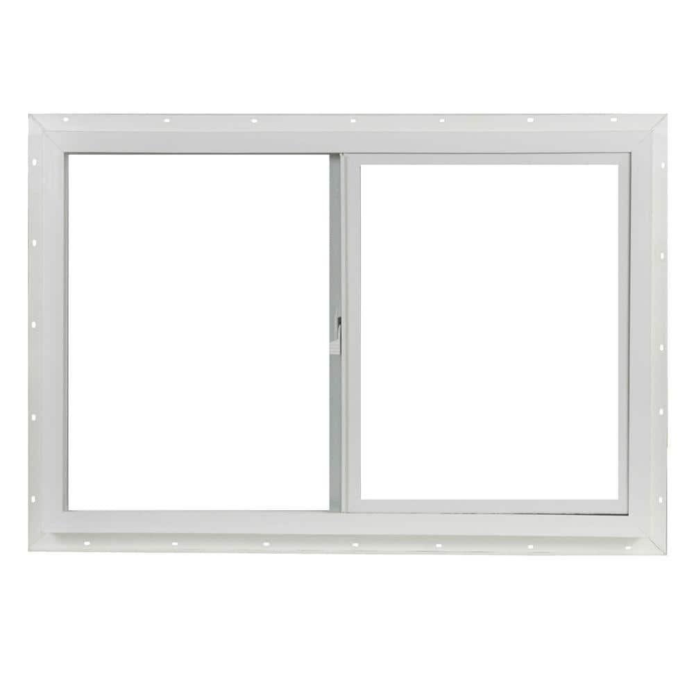 Tafco Windows 35 5 In X 23 5 In Utility Left Hand Single Slider Vinyl Window Single Glass And Screen White Vus3624op The Home Depot